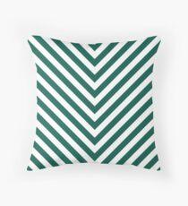 Celebration Town Dark Green Large Chevron Stripe Throw Pillow