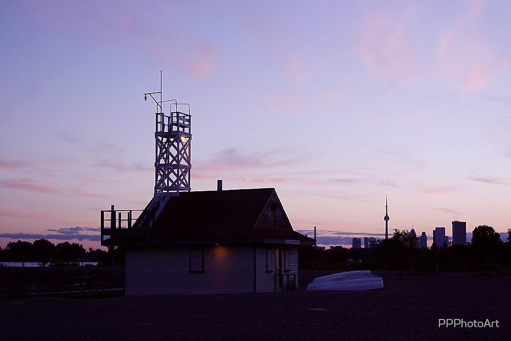 Leuty Lifeguard Station at Sunset by PPPhotoArt