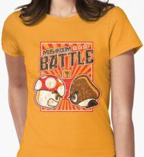 Mushroom Battle Women's Fitted T-Shirt