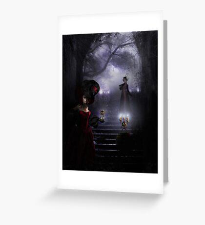 Inside the foggy portrait of Dorian Gray Greeting Card