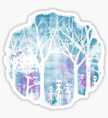 ALIEN ARRIVAL Sticker