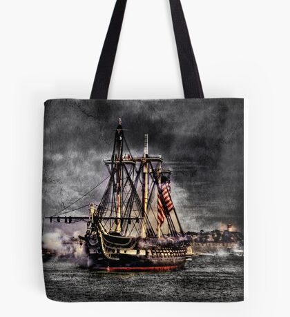 World's oldest commissioned warship afloat - USS CONSTITUTION Tote Bag