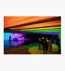 2019 Waller Creek Light Show in Austin, Texas  Photographic Print