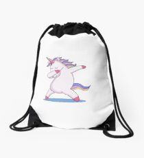 Dabbing Unicorn Drawstring Bag