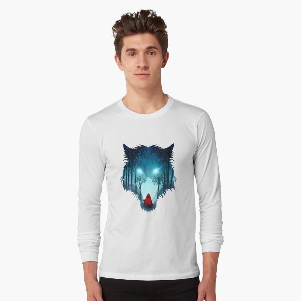Großer böser Wolf (dunkle Version) Langarmshirt