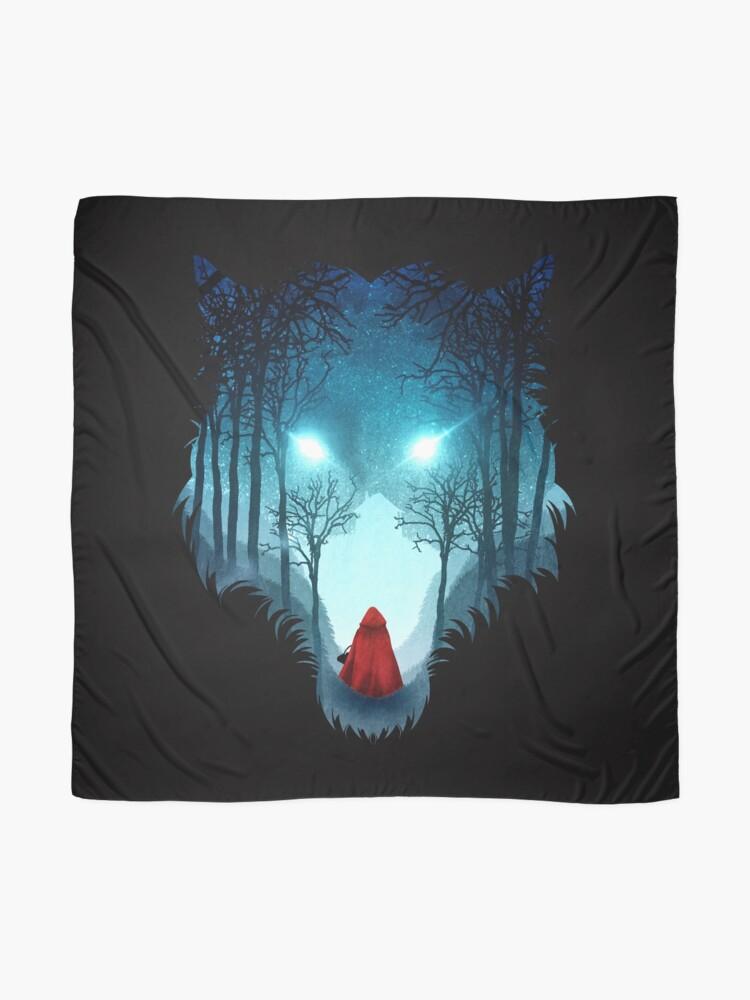 Alternate view of Big Bad Wolf (dark version) Scarf