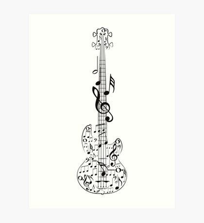 Gitarre und Musik Notes7 Kunstdruck
