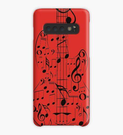 Gitarre und Musik Notes7 Hülle & Klebefolie für Samsung Galaxy