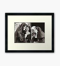 Nuns Smoking Framed Print