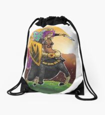 Unicorn Centaur Warrior Woman Drawstring Bag