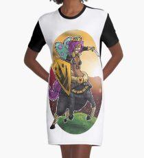 Unicorn Centaur Warrior Woman Graphic T-Shirt Dress