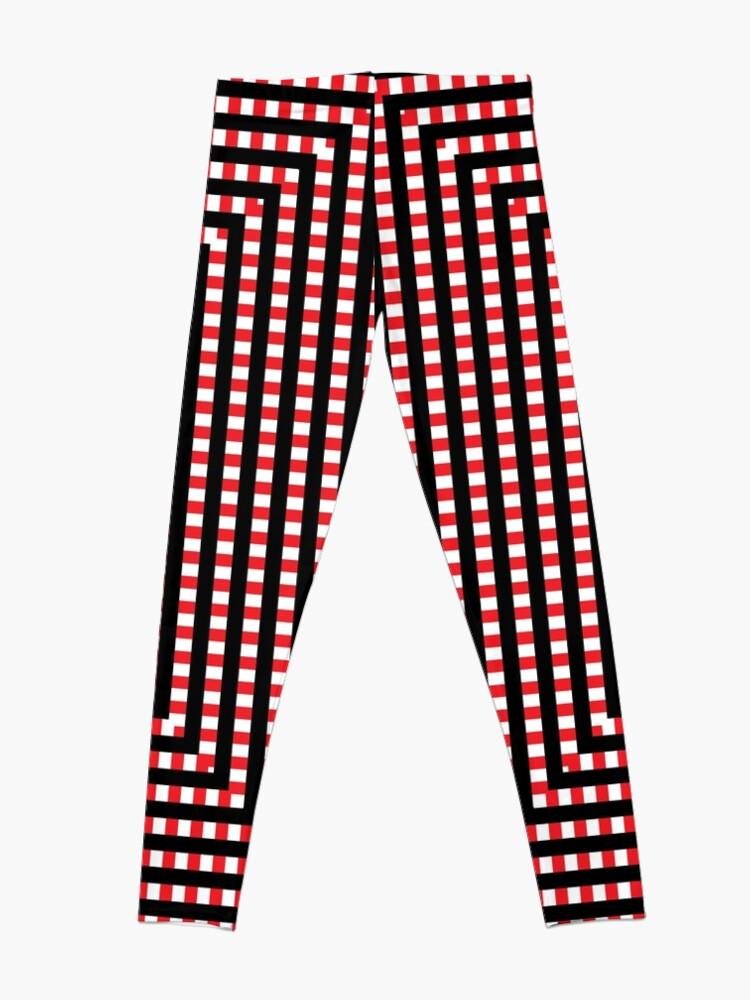 Alternate view of #Pattern, #design, #abstract, #art, illustration, square, illusion, paper, decoration Leggings