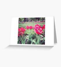 Tarjeta de felicitación Flores rosadas