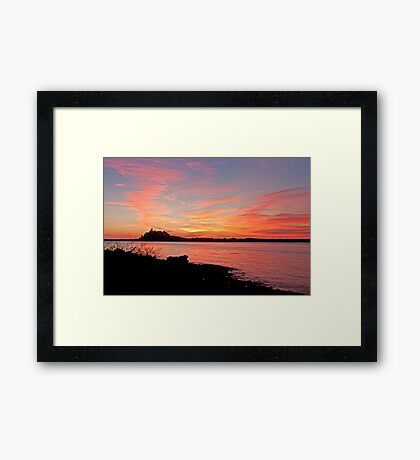 Nobby's Pink Sunrise Framed Print
