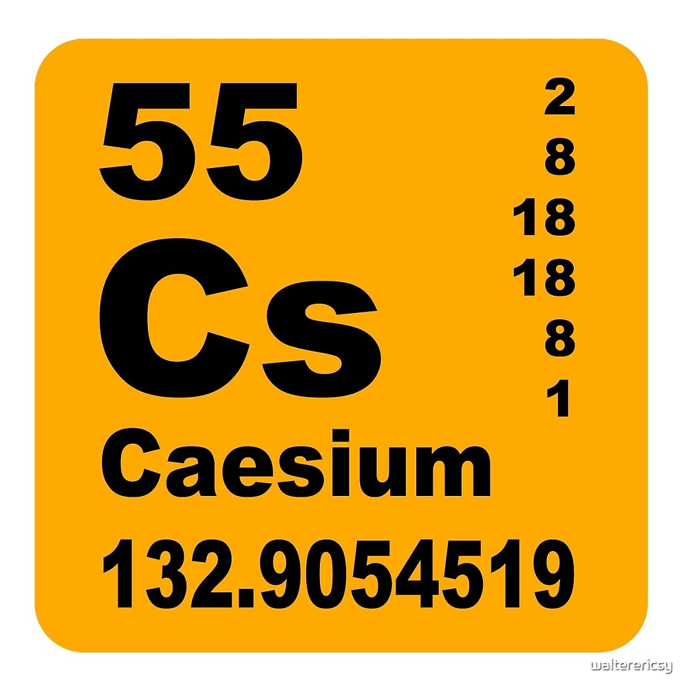 Caesium Periodic Table of Elements by walterericsy