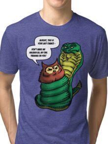 Owl Vs Snake Tri-blend T-Shirt