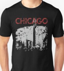 Vintage Chicago Tower Skyline Unisex T-Shirt