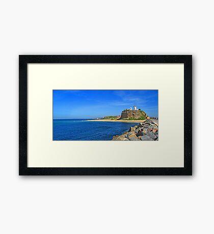 Nobby's Beach & Lighthouse Framed Print