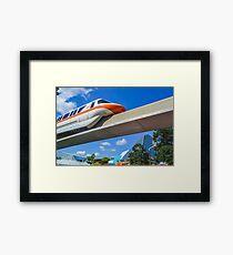 Monorail Orange Framed Print