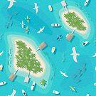Flight Over Paradise by nadyanadya