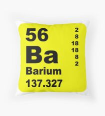 Barium Periodic Table of Elements Throw Pillow