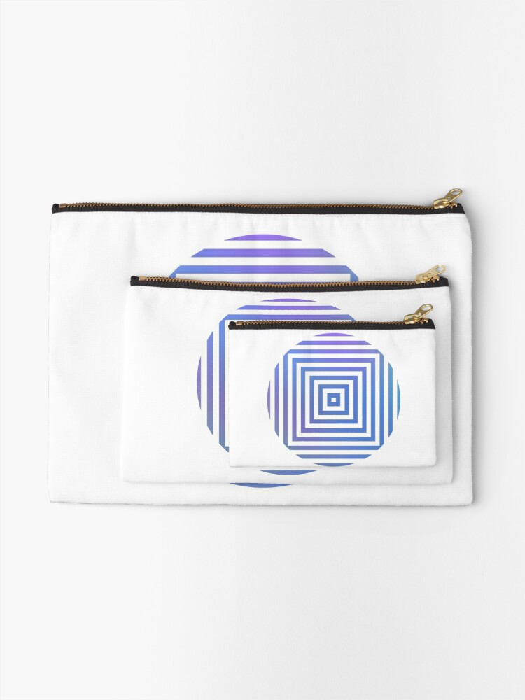 Alternate view of #Hypnosis #Hypnotic Image #HypnosisImage #HypnoticImage Zipper Pouch