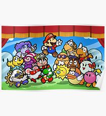 Papier Mario Familie Poster