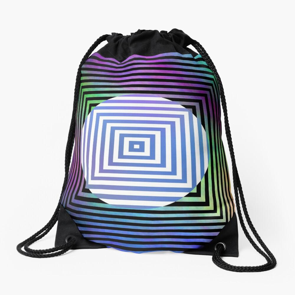 #Illusion, #pattern, #vortex, #hypnosis, abstract, design, twist, art, illustration, psychedelic Drawstring Bag