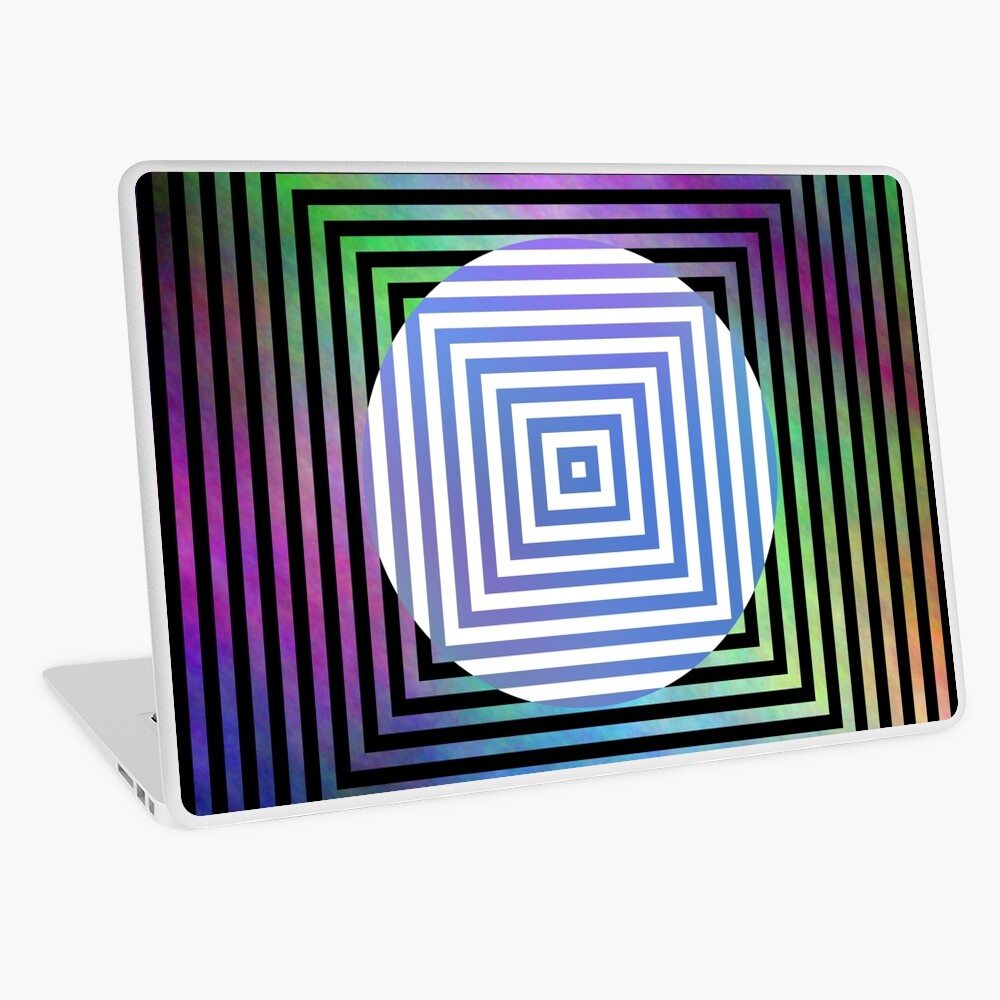 #Illusion, #pattern, #vortex, #hypnosis, abstract, design, twist, art, illustration, psychedelic Laptop Skin