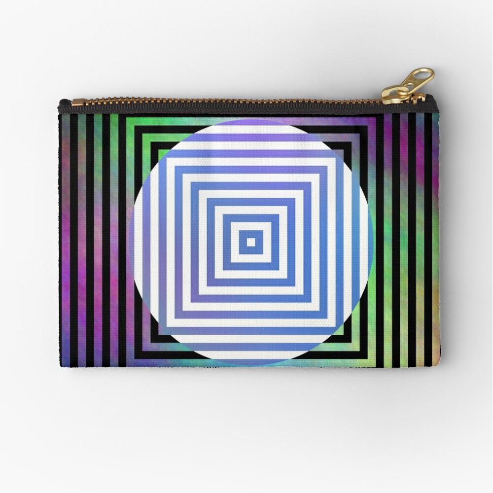 #Illusion, #pattern, #vortex, #hypnosis, abstract, design, twist, art, illustration, psychedelic Zipper Pouch