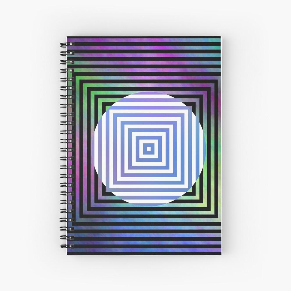 #Illusion, #pattern, #vortex, #hypnosis, abstract, design, twist, art, illustration, psychedelic Spiral Notebook