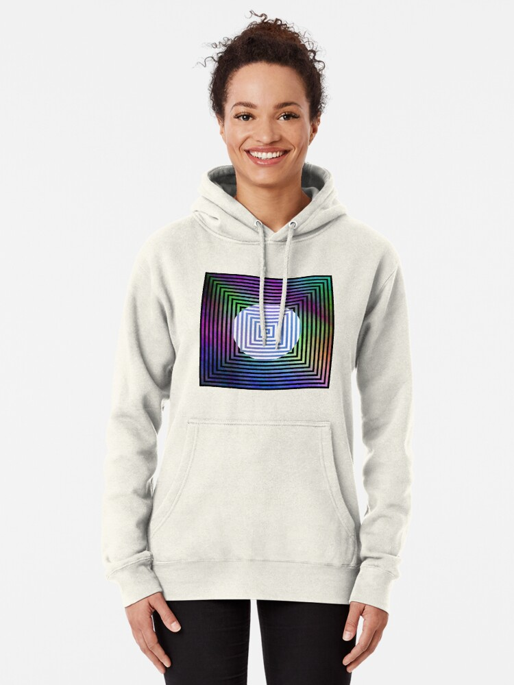 Alternate view of #Illusion, #pattern, #vortex, #hypnosis, abstract, design, twist, art, illustration, psychedelic Pullover Hoodie