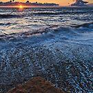 Sunrise, Seaham Harbour, North East Coast. UK by David Lewins