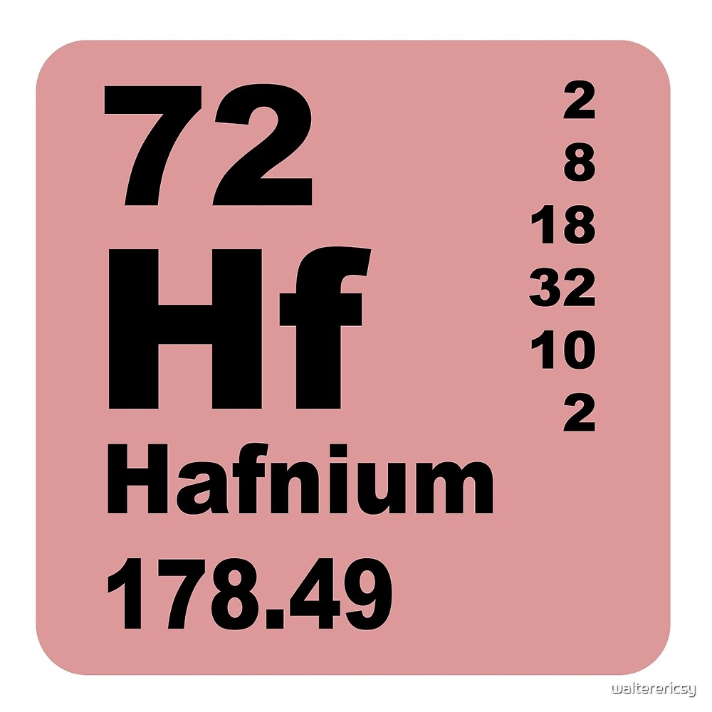 Hafnium Periodic Table of Elements by walterericsy