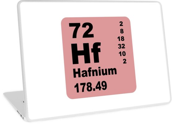Hafnium Periodic Table of Elements by walterericsy