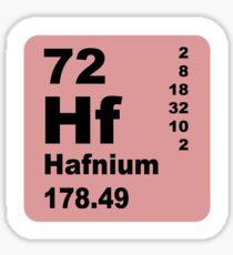 Hafnium Periodic Table of Elements Sticker