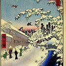 Yabu Lane von Utagawa Hiroshige (Reproduktion) von RozAbellera