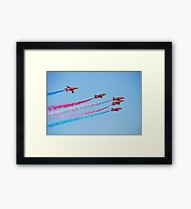 The Red Arrows, Hastings Framed Print