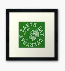 Retro Earth Day Everyday  Framed Print