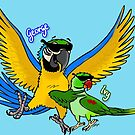 George and Ivy Parrots by Skye Elizabeth  Tranter