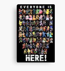 Alle sind hier! & DLC - Super Smash Bros Ultimate Leinwanddruck