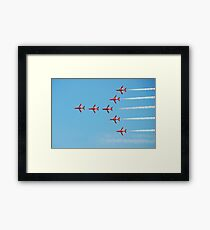 The Red Arrows team Framed Print