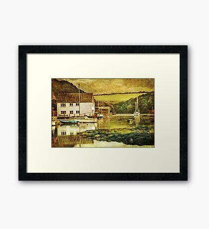 The Helford river at Gweek Framed Print