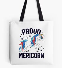 Proud Mericorn 4th of July T-Shirt Kids Unicorn Patriotic Tote Bag