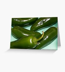 jalepenos peppers Greeting Card