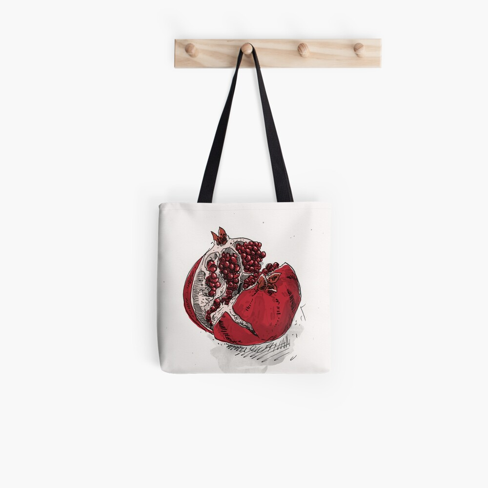 pomegranate drawing Tote Bag