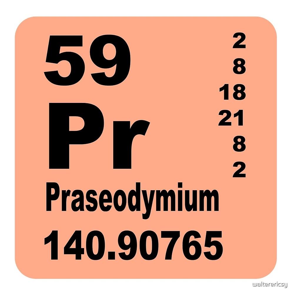 Praseodymium Periodic Table of Elements by walterericsy