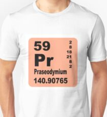 Praseodymium Periodic Table of Elements Unisex T-Shirt