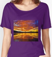 Burning sky Women's Relaxed Fit T-Shirt