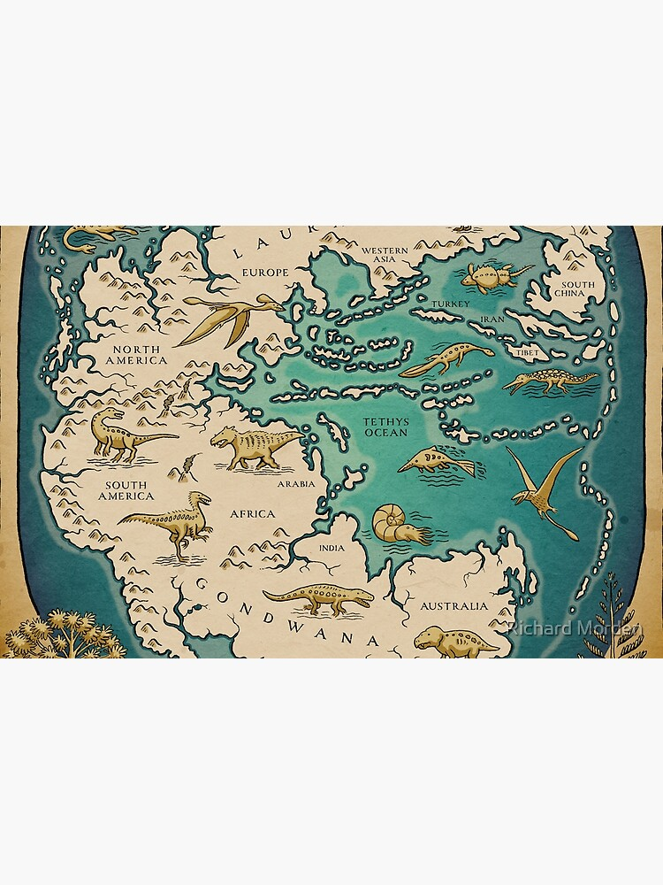 map of the supercontinent Pangaea by morden